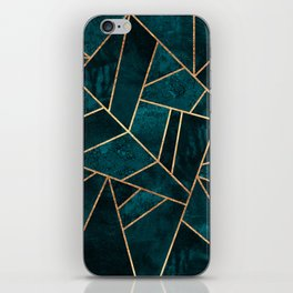 Deep Teal Stone iPhone Skin
