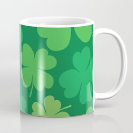 Lucky 4 Leaf Clover Pattern Coffee Mug