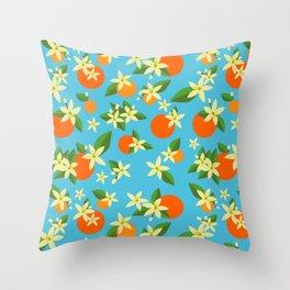 Orange Blossom Daydreams Throw Pillow