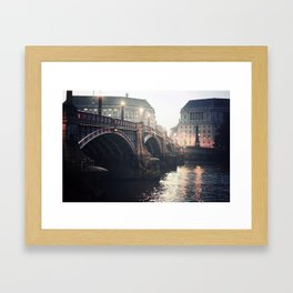Evening Bridge Framed Art Print