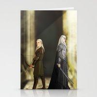 legolas Stationery Cards featuring Legolas & Thranduil by rdjpwns
