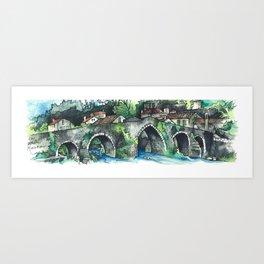 Camino Finisterre - Puente Maceira Art Print