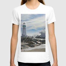 Walton Lighthouse Santa Cruz California Photography T-shirt
