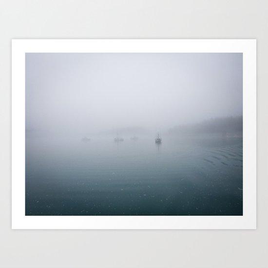 fog + ships Art Print