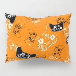 Video Game Orange Pillow Sham
