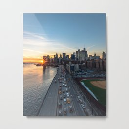NYC Sunset Metal Print