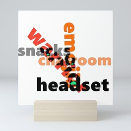 Chatroom Warrior Graphics - Font Art Mini Art Print