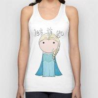 frozen elsa Tank Tops featuring Elsa: Frozen  by Jen Talley