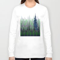plaid Long Sleeve T-shirts featuring Plaid Forest by LindaWexlerArt
