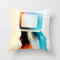 SEX ON TV - BLACKY by ZZGLAM Throw Pillow