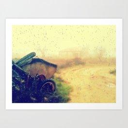 tras la lluvia Art Print