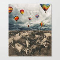 balloons Canvas Prints featuring Balloons by Mrs Araneae