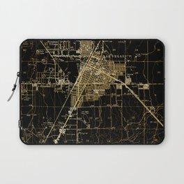 Las Vegas antique map, year 1952 Laptop Sleeve