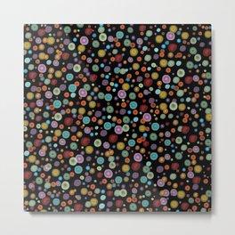Playful Watercolor Dots Pattern Metal Print