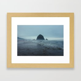 Cannon Beach Fog Framed Art Print