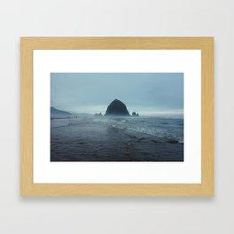 Cannon Beach Fog Framed Art Print