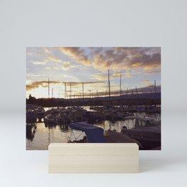 sunset in Geneva Mini Art Print