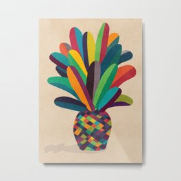 Flower Pot Metal Print