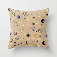 universe Throw Pillows featuring Universe by Marta Olga Klara
