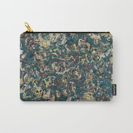 Petrol Blue Marble Carry-All Pouch