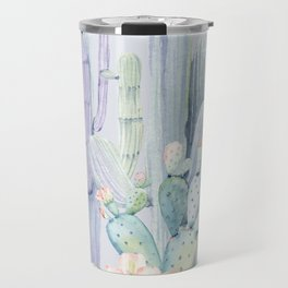 Mixed Cacti 2 Blue #society6 #buyart Travel Mug