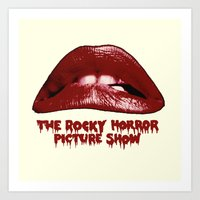 rocky horror picture show Art Prints featuring Rocky Horror Picture Show Lips Logo by TOM / TOM