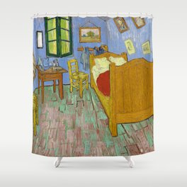 The Bedroom (1889) by Vincent Van Gogh. Shower Curtain