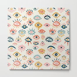 Mystic Eyes – Primary Palette Metal Print