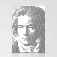 beethoven Stationery Cards featuring Beethoven Portrait  by Cool Prints