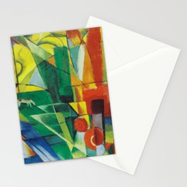 """Franz Marc """"Landscape with House and Two Cows (also known as Landscape with House, Dog and Cattle)"""" Stationery Cards"""