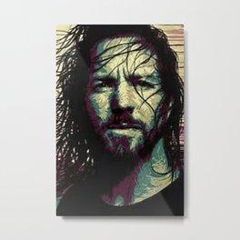 Eddie Art Portrait Metal Print