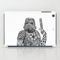 storm trooper iPad Cases featuring Storm Trooper  by ATELOPHILIA DESIGNS