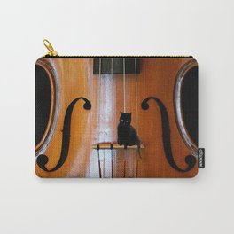 Black Cat And Violin #decor #society6 Carry-All Pouch