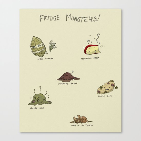 Fridge Monsters Canvas Print