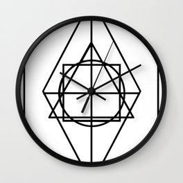 Black lines minimalism Wall Clock