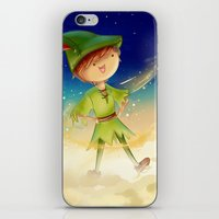 peter pan iPhone & iPod Skins featuring Peter Pan by CodiBear