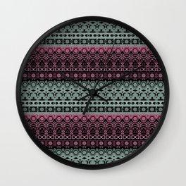Greenish - pinkish ornament Wall Clock