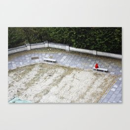 Red Covered Loneliness Canvas Print