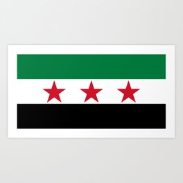 Independence Flag of Syrian, High quality Art Print