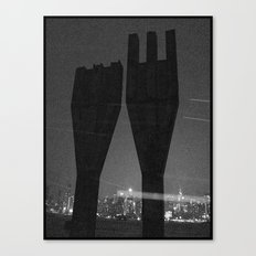 Mysterious Monument with Snow 1 Canvas Print