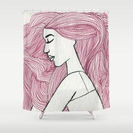 Bed hair  Shower Curtain