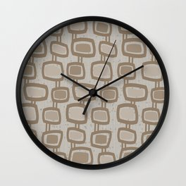Dangling Rectangles in Brown Wall Clock