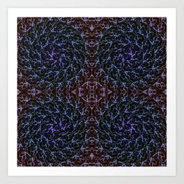Ascension Convergence Pattern Art Print