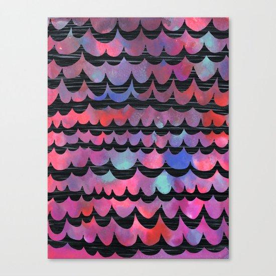 WAVES - Purple Canvas Print