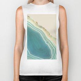 Geode Turquoise + Cream Biker Tank