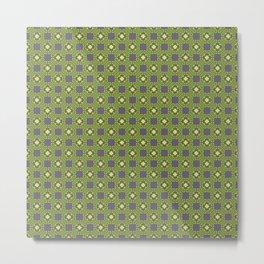 Digital Circuits Geometric Seamless Pattern Metal Print