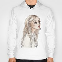 creepy Hoodies featuring Creepy Chan by Helen Green