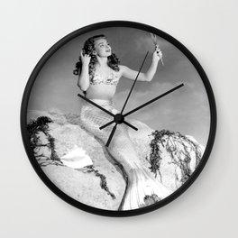 Vintage Mermaid : Mr Peabody & The Mermaid Wall Clock