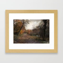 Passing through Hopkins Pond Framed Art Print