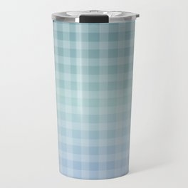 Checkered gingham stripes Travel Mug